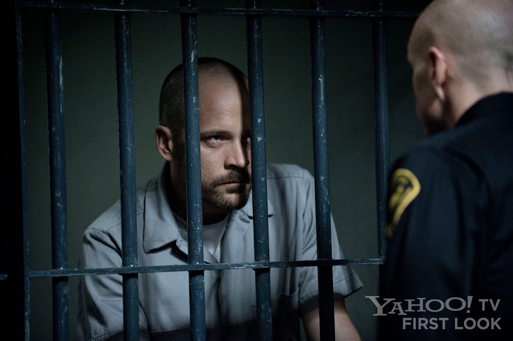 "Ray Seward (Peter Sarsgaard) and Frances Becker (Hugh Dillon) in ""The Killing"" episode, ""Seventeen."""