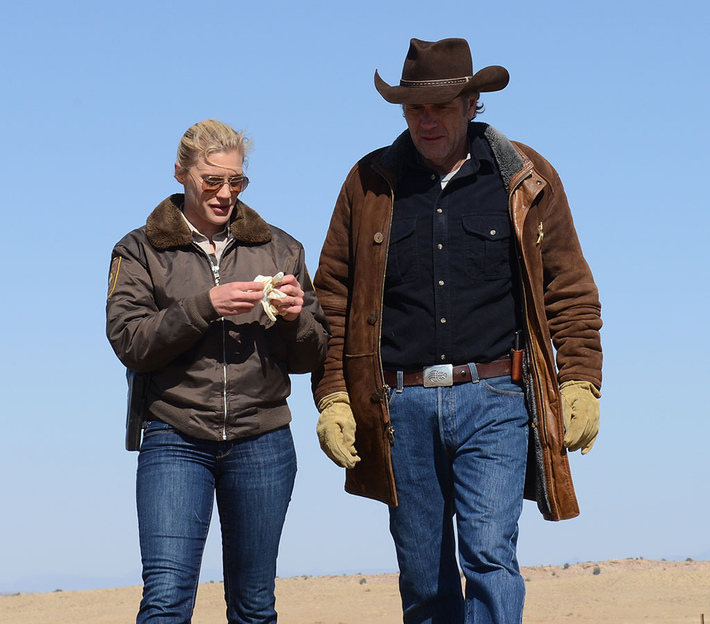"Katee Sackhoff and Robert Taylor star in ""Longmire"" Mondays at 10/9c on A&E."