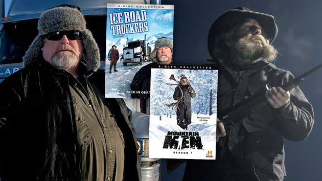 History Channel's 'Ice Road Truckers' & 'Mountain Men' show life and work along treacherous terrain. (History)