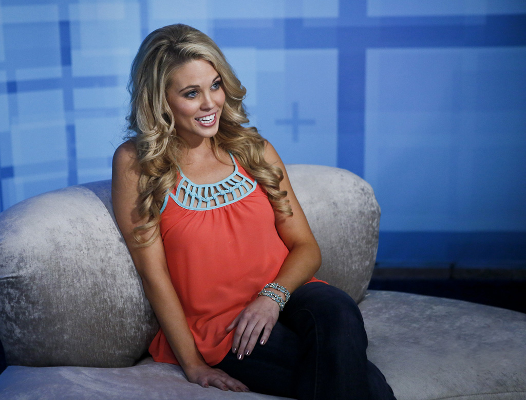 "Houseguest Aaryn during the season premiere of ""Big Brother 15."""