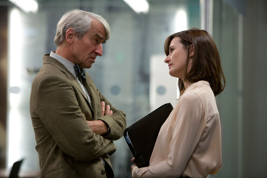 Sam Waterston and Emily Mortimer in HBO's 'The Newsroom' Season 2 Premiere, 'First Thing We Do, Let's Kill All the Lawyers.'