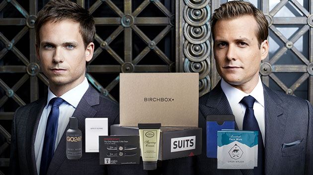 Patrick J. Adams as Mike Ross and Gabriel Macht as Harvey Specter in USA Network's