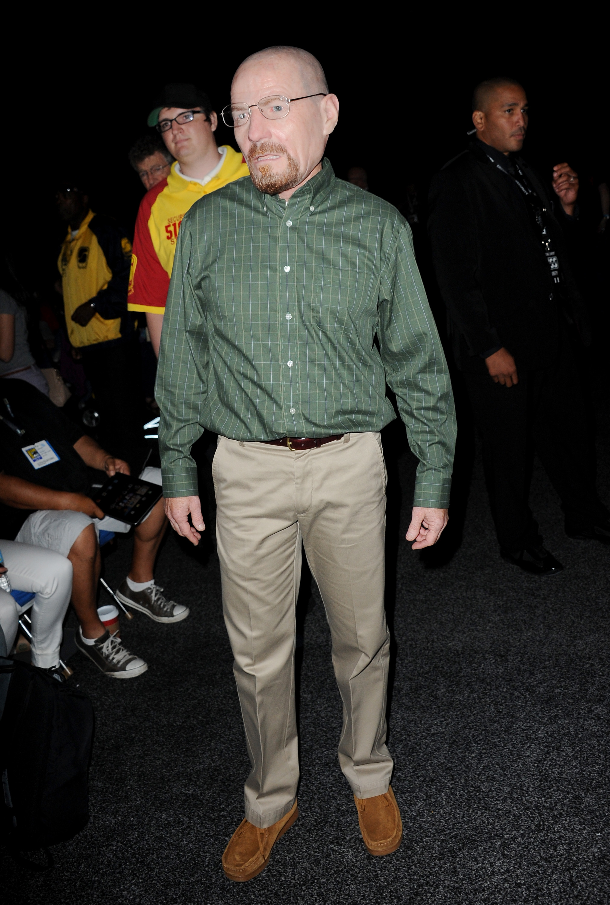 Cranston in his Walter White mask (Albert L. Ortega/Getty Images)