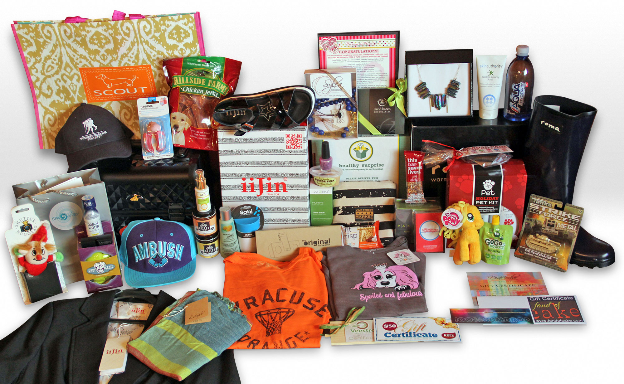 This Wounded Warrior Project Emmys gift basket could be yours if you enter our giveaway!