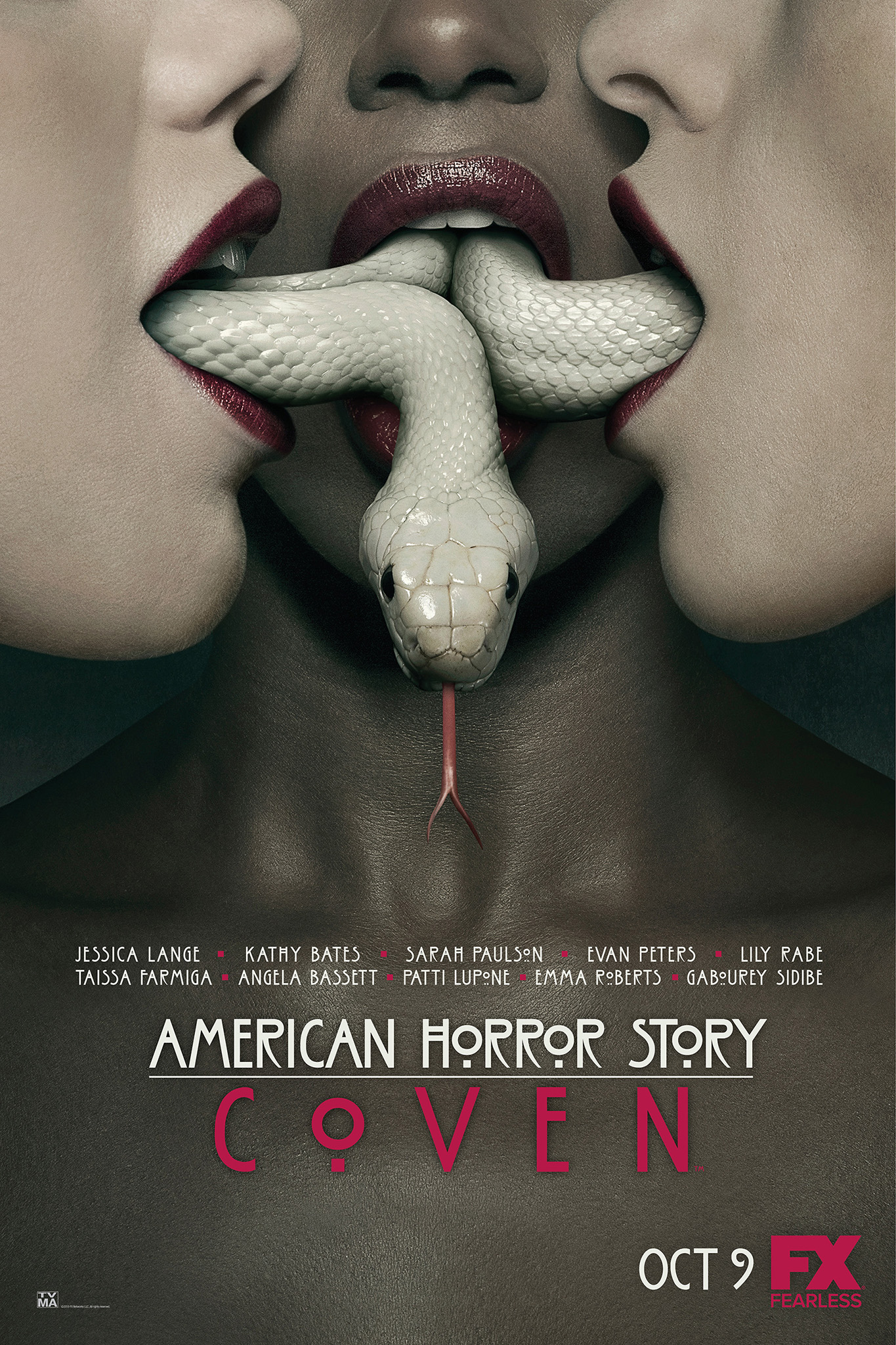 3 Girls and a Snake Grace the 'American Horror Story: Coven' Poster