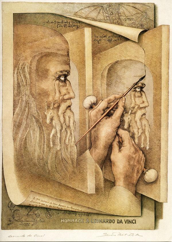 Sandro Del-Prete: Hommage an Leonardo da Vinci; image held here, artist\