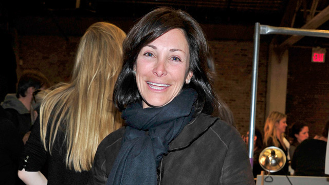 Publicist Lynn Tesoro is shown at Cedar Lake Studio during Fashion Week in New York, Feb. 14, 2010.