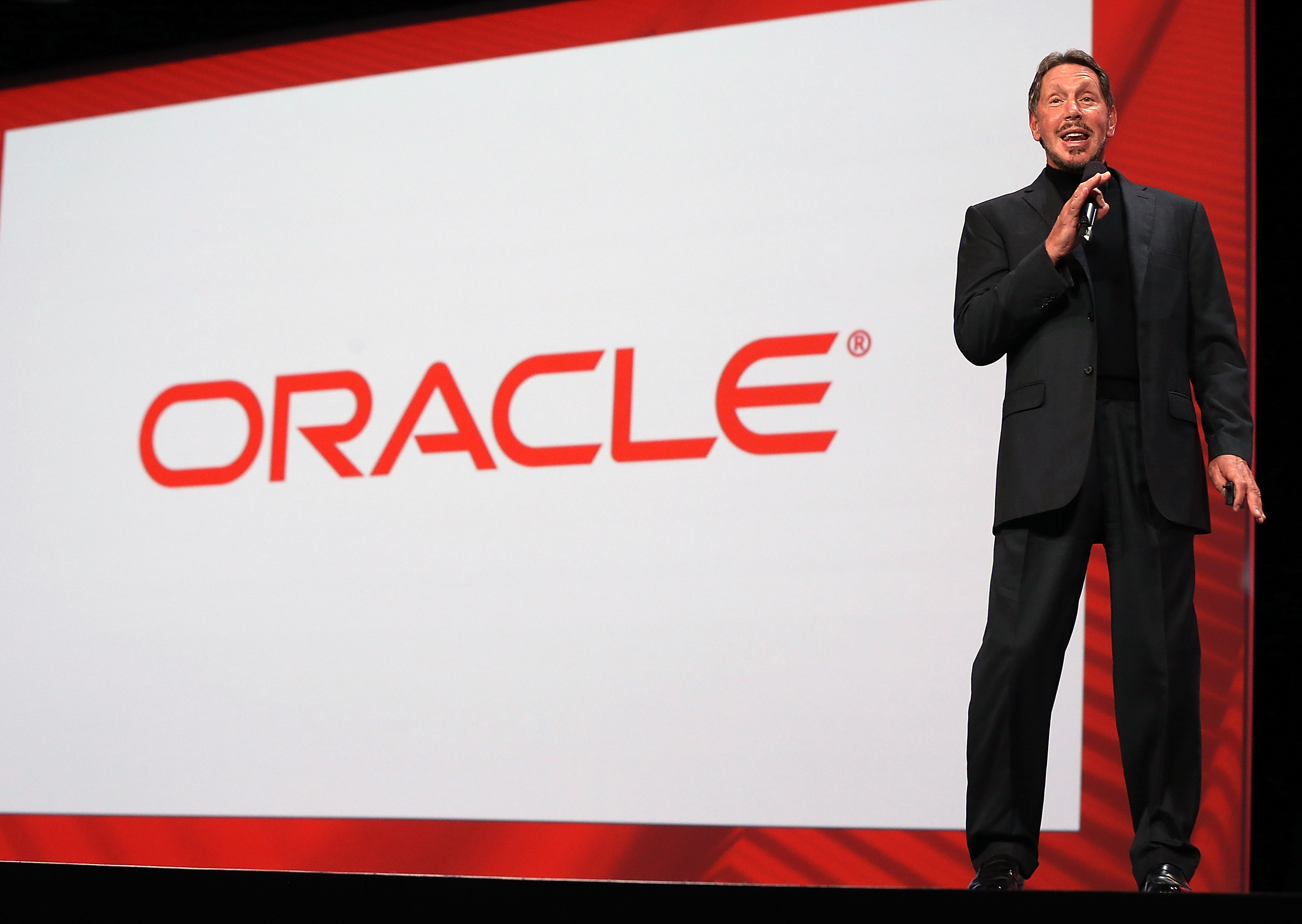 Oracle CEO Larry Ellison. (Photo by Justin Sullivan/Getty Images)