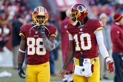 RGIII's development is critical to Garcon's rebound potential in 2015. (AP)