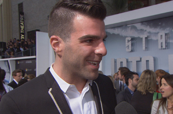 &#39;Star Trek Into Darkness&#39; LA Premiere: Zachary Quinto Looks Back