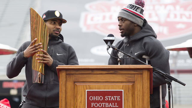 J.T. Barrett's father says that if healthy, Braxton Miller should be considered as Ohio State's starting quarterback.