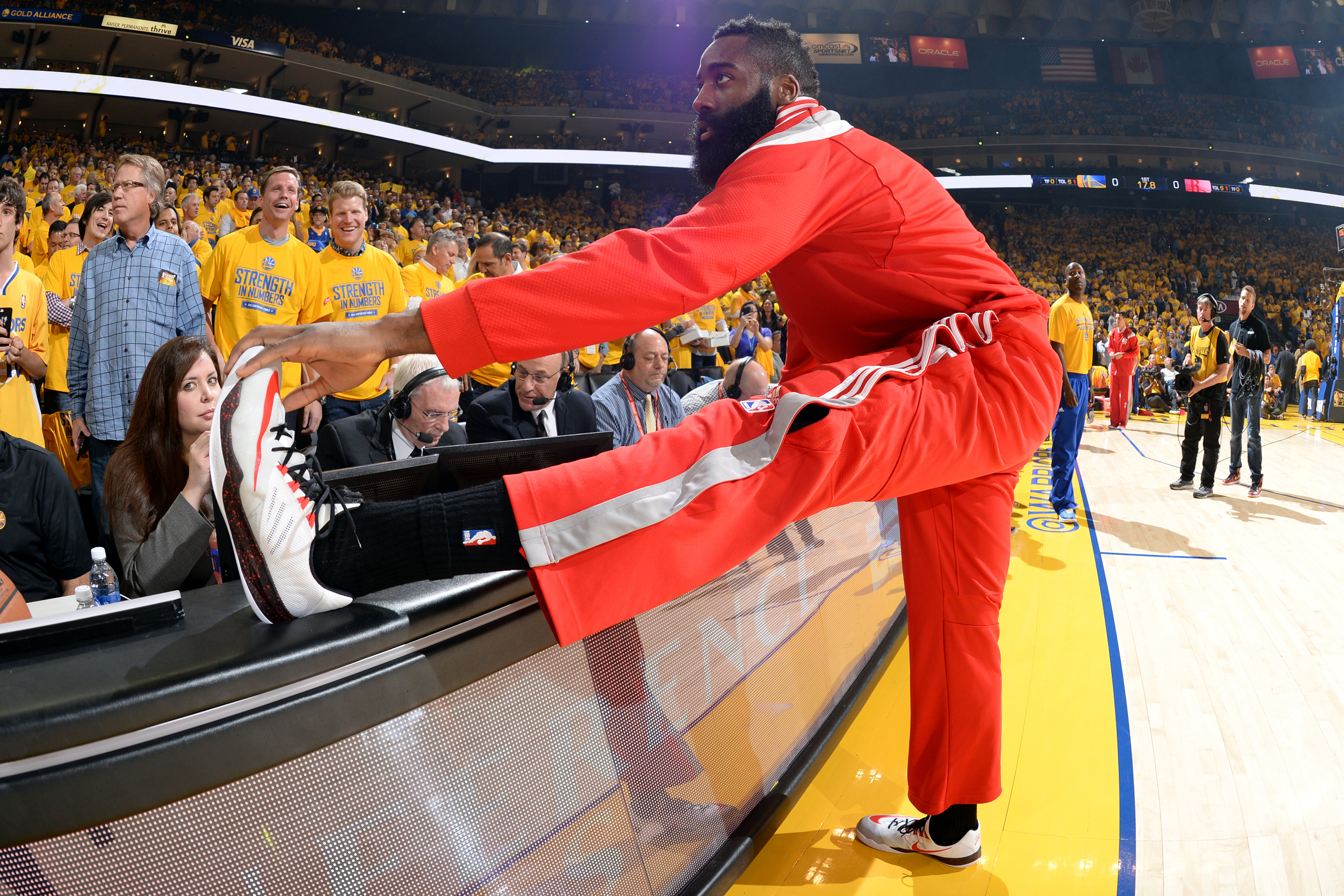 New Adidas pitchman James Harden can't