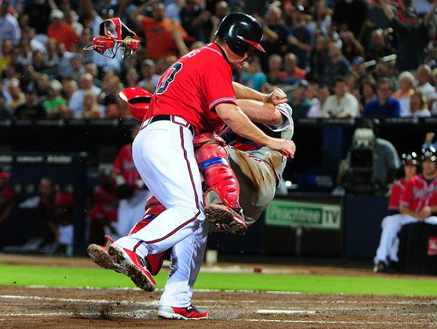 Collision course: Phillies catcher Eric Kratz holds on despite …