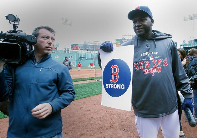 David Ortiz punctuates Red Sox pregame ceremony with strong sta…