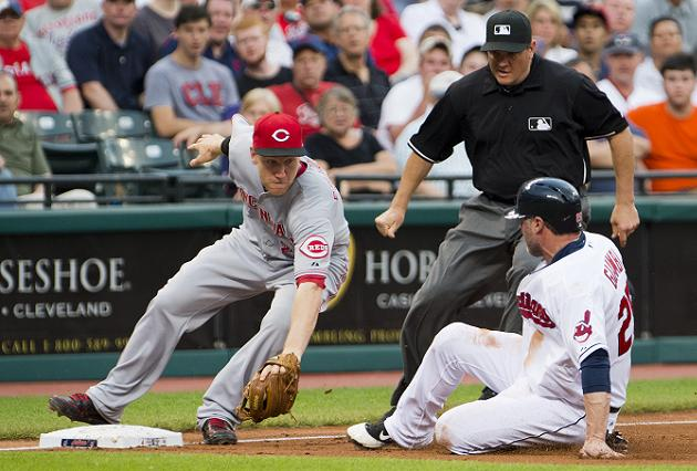 Jason Giambi's unsuccessful attempt to steal third base provide…