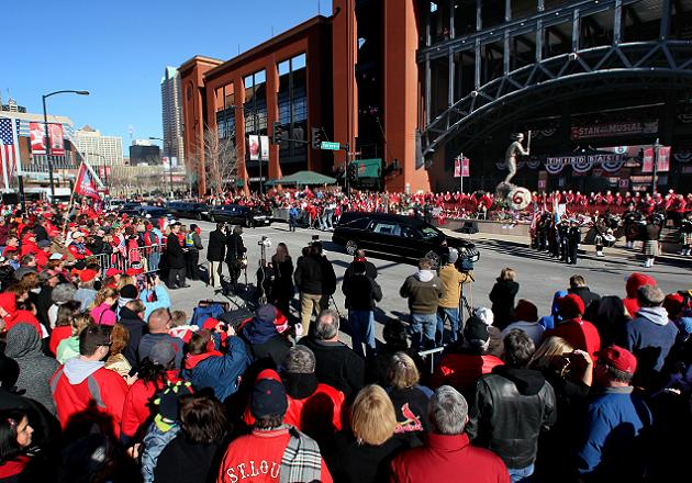 Cardinals fans serenade Musial family with 'Take Me Out to the …