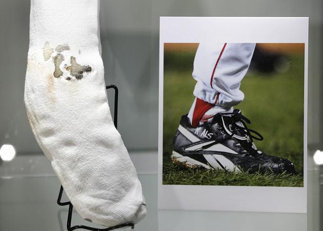 Curt Schilling's bloody sock sold for $92,612