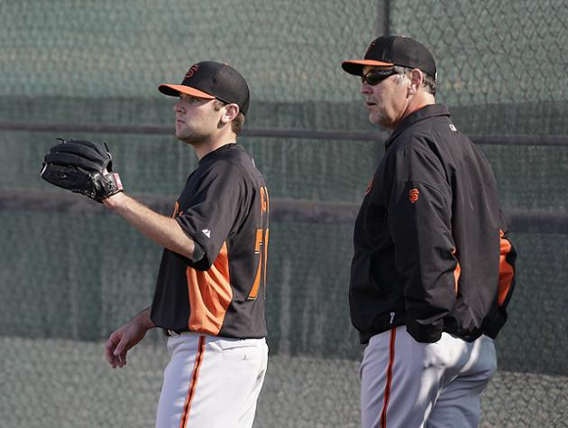 Thanks, Dad!: Bruce Bochy informs son Brett he's been cut from …
