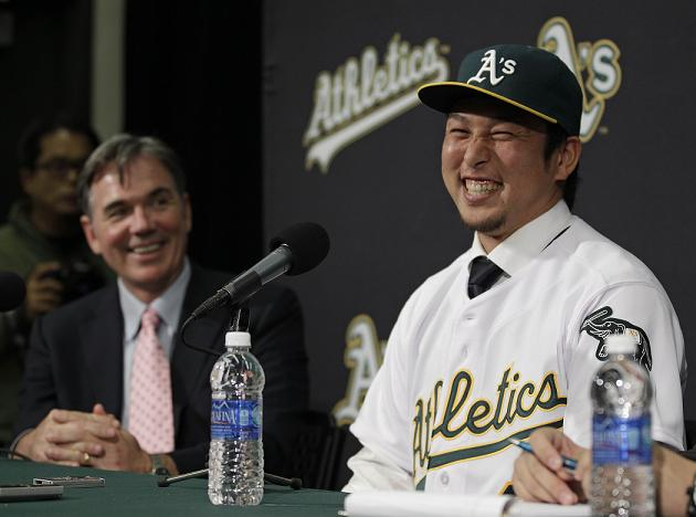 New A's shortstop Hiroyu