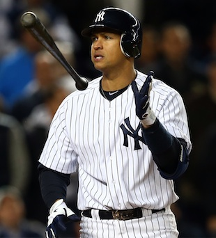Alex Rodriguez benched for ALDS Game 5