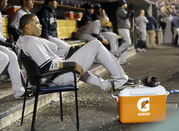 Robinson Cano enjoys view of Justin Verlander while lounging in…
