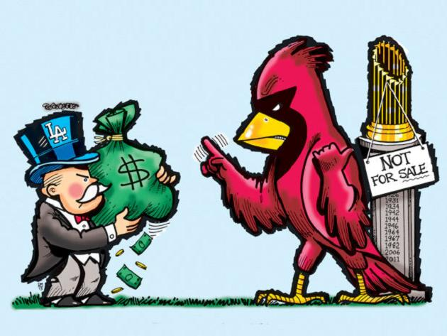 It's the 'Cardinals' way' versus the 'Dodgers' pay,' according …