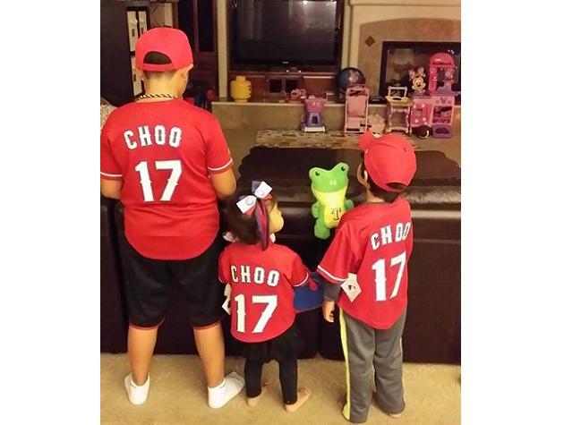 Shin-Soo Choo's kids show off their early Christmas presents — …