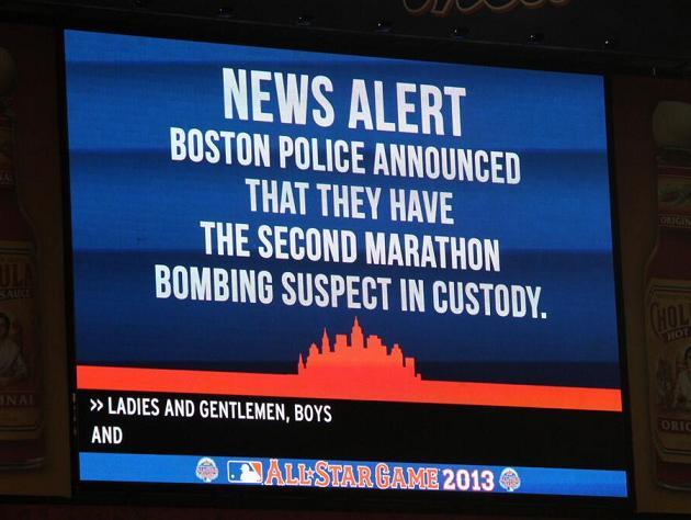 Citi Field breaks into 'U-S-A!' chants after Boston Marathon bo…