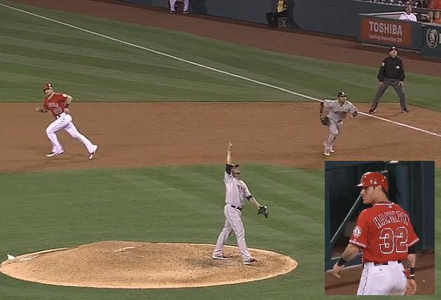 Josh Hamilton lost track of the outs on Friday night's game-end…