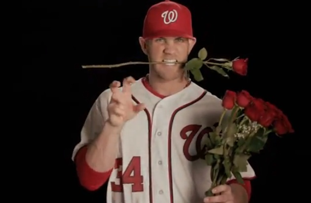 Bryce Harper campaigns for MLB 13 cover with a good impression …