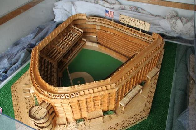 Fan builds Yankee Stadium replica using 75,000 matchsticks