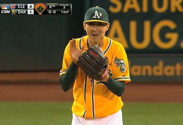 Three for one: Eric Sogard turns in three defensive gems in one…