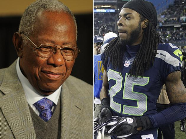 Hank Aaron shows support for embattled Seahawks star Richard Sh…