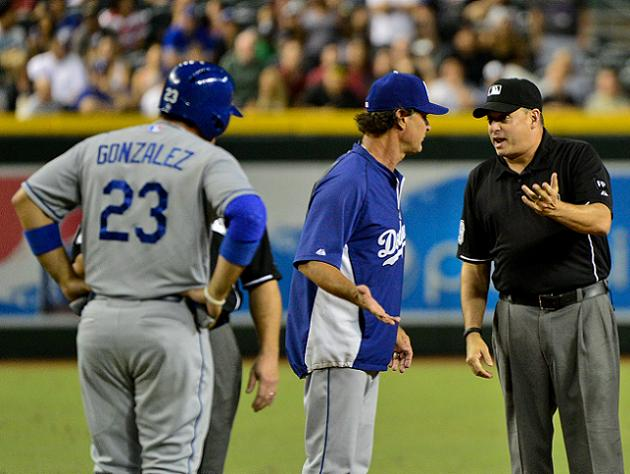 Adrian Gonzalez ejected at second base following blown call at …