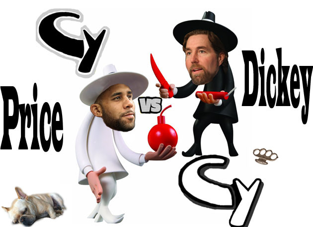 Cy (Young) vs. Cy (Young): David Price faces R.A. Dickey in rar…