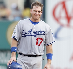 Funky delivery: A.J. Ellis watches as newborn daughter arrives …