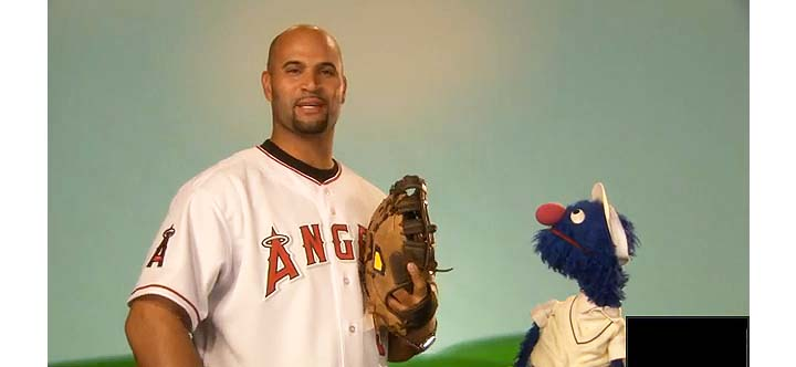 Albert Pujols tells Grover of 'Sesame Street' — 'I'm good at ba…
