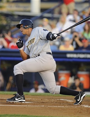 A-Rod homers in Double-A, says he's six days away from returnin…