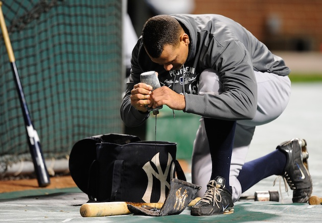 Create-a-Caption: A-Rod conditions his bat