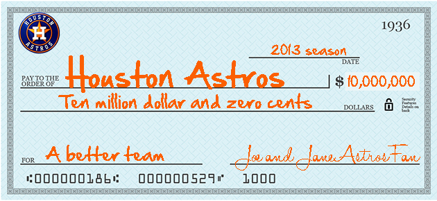 Houston Astros owner: Fans can 'write a check for $10 million' …