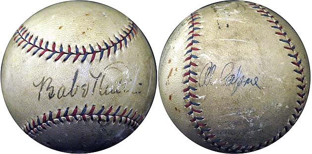 Babe Ruth and Al Capone: Pals' autographed baseball is up for a…