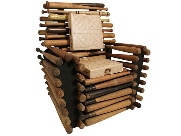 For Sale: One awesome 'baseball bat' chair