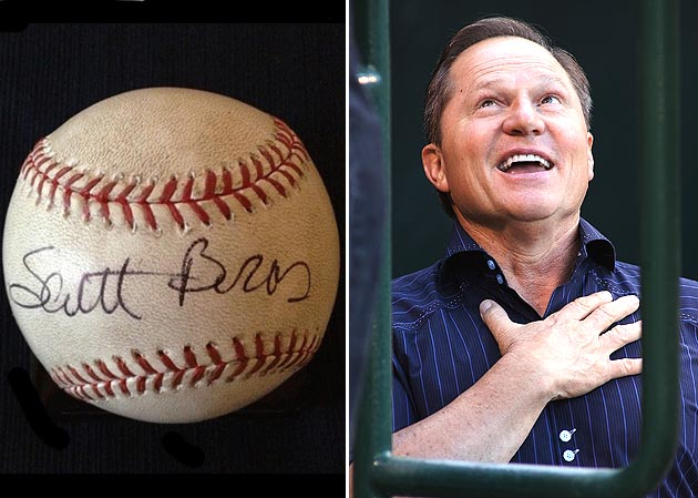 Scott Boras?! Autographed baseball up for bid at 'Umps Care' au…