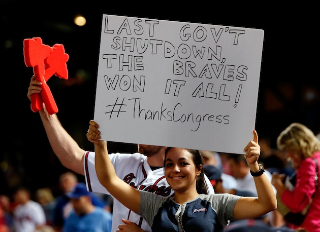 Is the federal government shutdown the Atlanta Braves' good-luc…