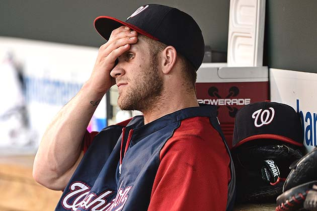 Bryce Harper to visit Dr. James Andrews about swollen knee