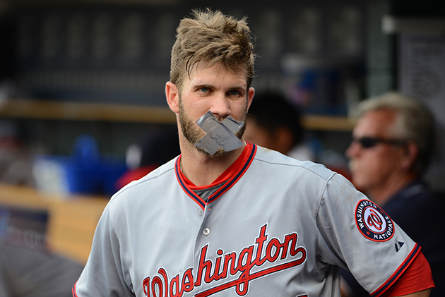 Bryce Harper was ordered by Nationals management not to talk ab…