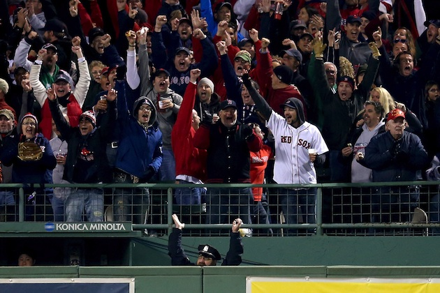 The Bullpen Cop celebrates another Red Sox homer, this time in …