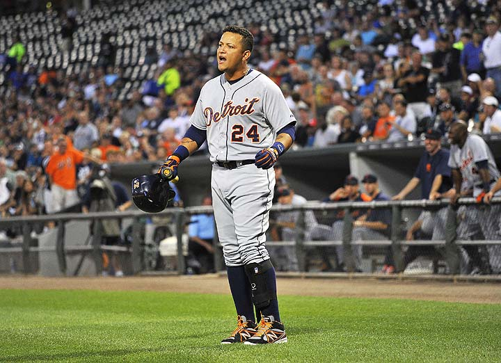 Miguel Cabrera has three hits (all singles) in September