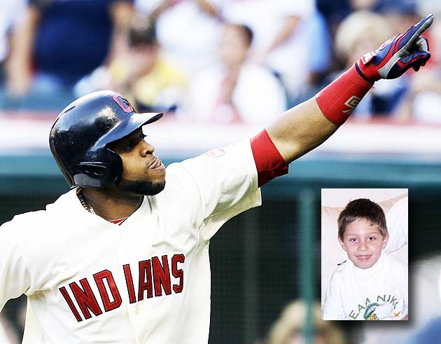 Carlos Santana and Jason Kipnis homer after 8-year-old Indians …