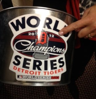Detroit Tigers World Series champions bucket finds way into Gia…